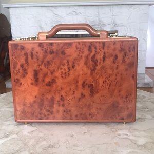 NEW! Stunning Wood Briefcase